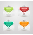 Abstract paper envelope infographics number vector image