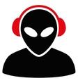 Alien Operator Flat Icon vector image vector image