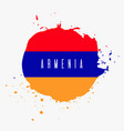 armenia watercolor national country flag icon vector image vector image