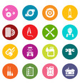 auto repair icons set colorful circles vector image vector image