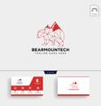 bear mountain technology logo template vector image vector image