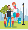 best father in the park characters vector image vector image