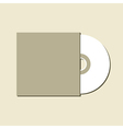 Blank white compact disc vector image vector image