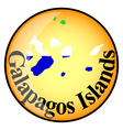 button Galapagos Islands vector image vector image