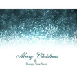 Christmas blue abstract background vector image vector image