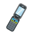 Clamshell handphone flat icon vector image vector image