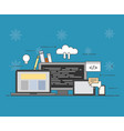 cloud internet common storage for all devices on vector image vector image