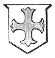 cross patonce used as a charge in a coat of arms vector image vector image