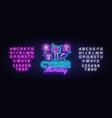 cyber monday sale neon banner design vector image