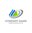 data document abstract company logo vector image vector image