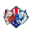 Democrat Donkey Republican Elephant Mascot Boxing vector image vector image