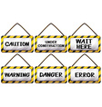 Different warning signages vector image