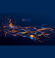 dots particles flowing array abstract background vector image vector image