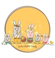 Easter Rabbit Family vector image