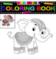 elephant coloring book vector image vector image