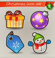 funny christmas icons-4 vector image