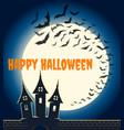 halloween bats poster vector image