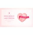 happy wedding postcard with love symbol paper art vector image vector image