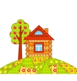 House on the hill isolated vector image vector image