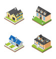 houses buildings isometric icons vector image