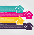 Infographic design style colorful house vector image vector image