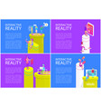 interactive reality posters vector image vector image