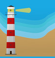 lighthouse on the sea lighthouse background vector image vector image