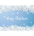 merry christmas snowflake winter white vector image vector image