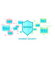 modern in flat style data security on vector image vector image