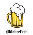 Oktoberfest emblem poster or label vector image vector image