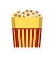 paper popcorn box icon flat style vector image