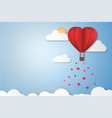 paper style love of valentine day with copy space vector image vector image