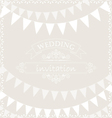Party ribbons on wedding invitation card vector image