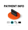 Payment info icon in different style vector image vector image