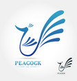 peacock logo on white background vector image