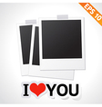Photo frame with I LOVE YOU text - - EPS10 vector image