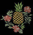 pineapple embroidery vector image