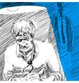 Police interrogation vector image vector image