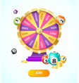 realistic 3d detailed casino fortune wheel and vector image vector image
