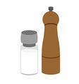Salt and pepper shakers On a white background vector image vector image