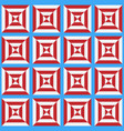 seamless pattern of the stylized white and red vector image