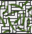 seamless tropical pattern with fern leaves vector image