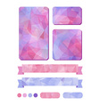 Set of colorful design elements in pink vector image vector image