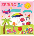 Set of Spring Elements and vector image