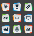 set simple film icons vector image
