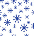 Snoflake pattern vector image vector image