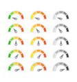 speed metering icon vec set vector image vector image