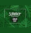 summer season sale concept summer season exotic vector image