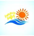 Sun wave ocean illlustration vector image vector image
