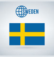 sweden flag isolated on modern background with vector image vector image